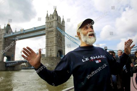 London United Kingdom : Jim Shekhtar Poses For a Photograph Beside Tower Bridge in London 09 April 2001 Shekhtar was the First Man to Row Across the Pacific Ocean Non-stop and Unaided Shekhtar is Back in the Uk After Completing His Personal Challenge Which Took 274 Days to Row the 10 000 Miles From Peru to Australia During His Voyage Shekhtar Encountered Sharks As Well As Being Nearly Rammed by an Oil Tanker