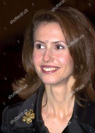 Syrian President Bashar Al-assad's Wife Asma Arrives with Her Husband For a Dinner Hosted by Britain's Lord Chancellor Lord Irvine of Lairg at Lancaster House in Central London 16 December 2002 United Kingdom London