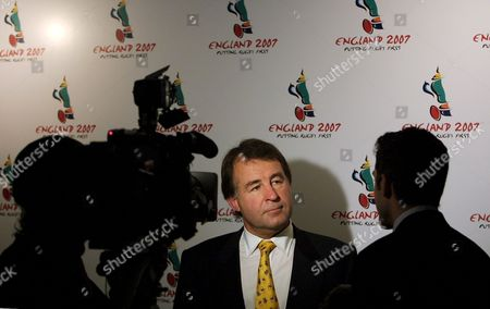 Ad004 - 20021021 - London United Kingdom : Francis Baron (c) Chief Executive of the Rugby Football Union Gives a Television Interview After a Press Conference at Twickenham Rugby Stadium in London 21 October 2002 the Conference was to Launchengland's Bid to Host the Rugby World Cup in 2007 the Committee Announced Their Preferred Option of a 16 Team World Cup and a 32 Team Rugby Nations World Cup to Run in Parallel Epa Photo United Kingdom London
