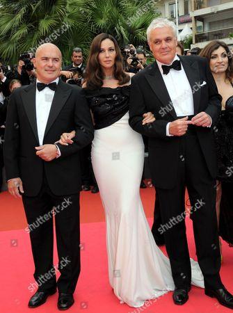 Luca Zingaretti, Monica Bellucci and Marco Tullio Giordana