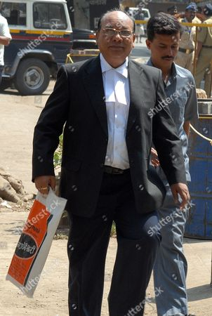 K P Pawar Lawyer of Prime Accused Mohammed Ajmal Amir Kasab Arrives at the Arthur Road Prison where the 2008 Mumbai Attacks Trial is Being Held in Mumbai India 03 May 2010 According to Latest Reports Special Judge M L Tahaliyani is Likely to Pronounce His Verdict in the Mumbai Terror Attacks Case Around This Noon Amidst Tight Security Both Within and Outside the Arthur Road Central Jail Precincts in Congested South Mumbai During the Trial 653 Witnesses Were Examined by the Prosecution and a 675-page Written Submission was Filed India Mumbai