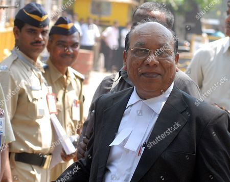 Stock Image of K P Pawar Lawyer of Prime Accused Mohammed Ajmal Amir Kasab Arrives at the Arthur Road Prison where the 2008 Mumbai Attacks Trial is Being Held in Mumbai India 03 May 2010 As Per the News Reports Special Judge M L Tahaliyani is Likely to Pronounce His Verdict in the Mumbai Terror Attacks Case Around This Noon Amidst Tight Security Both Within and Outside the Arthur Road Central Jail Precincts in Congested South Mumbai During the Trial 653 Witnesses Were Examined by the Prosecution and a 675-page Written Submission was Filed India Mumbai