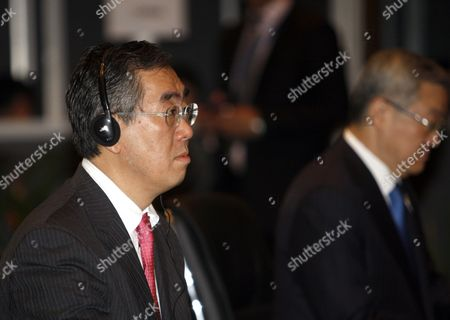 Japan Foreign Minister Takeaki Matsumoto (l) Sits Beside South Korean Foreign Minister and Trade Kim Sung-hwan (r) During the Asean Plus Three Ministerial Meeting (china Japan Korea) at the 44th Asean Ministerial Meeting in Nusadua Bali Indonesia on 21 July 2011 the Indonesian Island of Bali Hosts the 44th Asean Ministerial Meeting (amm) Post Ministerial Conference (pmc) and 18th Asean Regional Forum (arf) From 19 to 23 July Asean is Expected to Finalise a Regional Code of Conduct For the South China Sea Before Its Next Summit in November Epa/made Nagi Epa/made Nagi Indonesia Nusadua