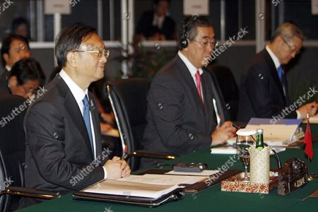(l-r) Chinese Foreign Minister Yang Jiechi Japan's Foreign Minister Takeaki Matsumoto and South Korean Foreign Minister Kim Sung-hwan During the Asean Plus Three Ministerial Meeting (china Japan Korea) at the 44th Asean Ministerial Meeting in Nusadua Bali Indonesia on 21 July 2011 the Indonesian Island of Bali Hosts the 44th Asean Ministerial Meeting (amm) Post Ministerial Conference (pmc) and 18th Asean Regional Forum (arf) From 19 to 23 July Asean is Expected to Finalise a Regional Code of Conduct For the South China Sea Before Its Next Summit in November Epa/made Nagi Epa/made Nagi Epa/made Nagi Epa/made Nagi Epa/made Nagi Indonesia Nusadua