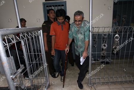 Saudi Arabian Al Khelaiw Ali Abdullah Walks Outside His Waiting Room During His Trial in Jakarta Indonesia on 21 June 2010 a Retired Saudi Arabian School Teacher Al Khelaiw Ali Abdullah 55 Denied Any Involvement in the July 17 2009 Attacks on the Downtown J W Marriott and Ritz Carlton Hotels Abdullah is Charged with Helping Support Terrorists by Giving Or Lending Money to Perpetrators of a Terrorist Act Indonesian Prosecutor Demanding Ali Faces a Maximum Nine Years in Prison Indonesia Jakarta