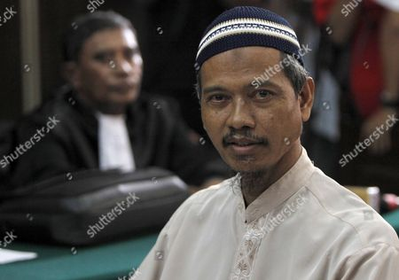 Indonesian Terror Suspect Also a Father in Law of Alleged Terrorist Noordin M Top Baharudin Alias Baridin Listens to the Judges During His Trial in Jakarta Indonesia 26 October 2010 the Court Sentenced Baharudin to Five Years in Jail For Violating Indonesia's Anti-terror Law by Concealing Information and Harboring Terrorists Linked with the July 17 Attacks at the J W Marriott and Ritz Carlton Hotels Indonesia Jakarta