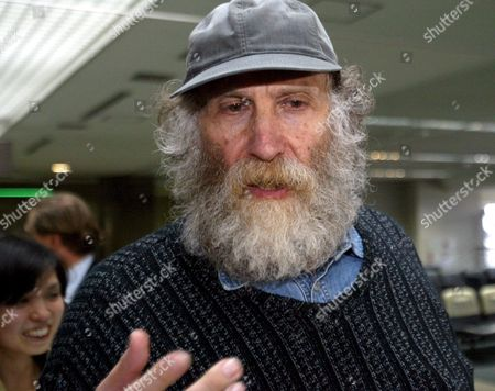 Bobby Fischer Chess Champion Leaving Tokyo's Narita Airport Thursday 24 March 2005 Fisher Was Held Eight Months by Japanese Immigration Authorities For an Alledged Invalid U S Passport Released After Gaining Natioality by Iceland Fisher is in Route to Iceland Via Copenhagen On Scandinavian Airways Flight