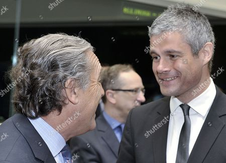 Spanish Secretary of State For European Affairs Diego Lopez Garrido (l) Chats with French European Affairs Minister Laurent Wauquiez (r) Prior to an European Union General Affairs Council Meeting at the Eu Headquarters in Luxembourg 13 April 2011 the United Nations Has Rebuffed a European Union Offer to Deploy a Military Mission to Assist Humanitarian Aid Efforts in Libya European Officials in Luxembourg Said 12 April Luxembourg Luxembourg