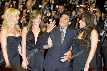 Ex wife Claudia Villafane,  Daughter Dalma, Diego Maradona Daughter Gianinna
