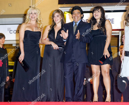 Stock Image of Ex wife Claudia Villafane,  Daughter Dalma, Diego Maradona Daughter Gianinna