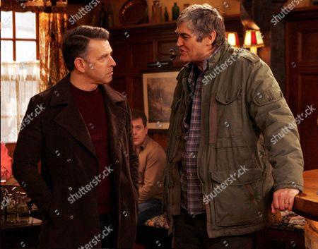 'Emmerdale'   TV Richard Thorp and Nick Brimble