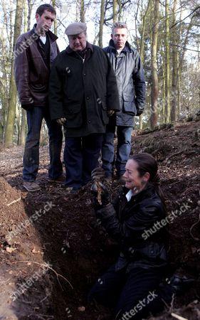 'Emmerdale'   TV Mark Charnock, Richard Thorp, Richard Shelton and Lorraine Chase