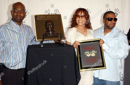 Editorial image of Curtis Mayfield posthumously inducted into Hollywood's Rockwalk, Los Angeles, America - 20 May 2008