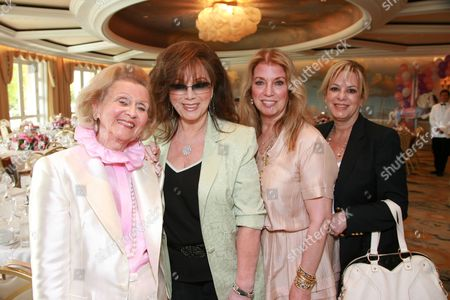 Barbara Davis, Jackie Collins, Joanna Shimkus and Laura Lizer