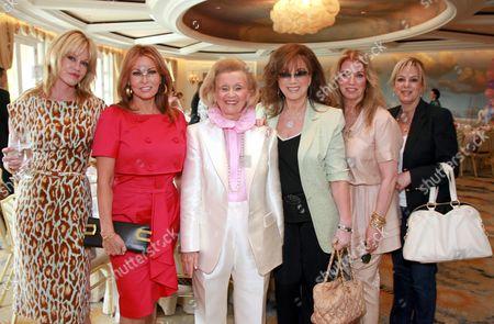 Stock Image of Melanie Griffith, Raquel Welch, Barbara Davis, Jackie Collins, Joanna Shimkus and Laura Lizer