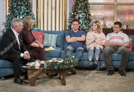 Eamonn Holmes and Ruth Langsford with Ramona Marquez, Daniel Roche and Tyger Drew-Honey