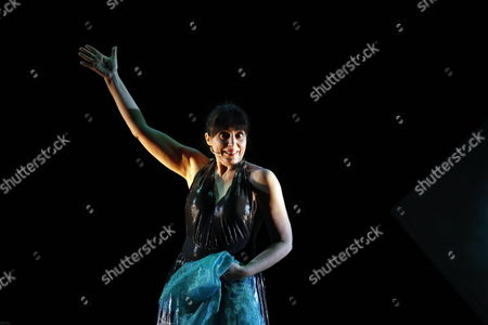 Stock Photo of Italian Actress Daniela Giordano Performs a Scene of Her Show 'Orpheus' at the Italian Cultural Institute in Algiers Algeria 19 January 2012 the Piece was Written and Directed by Giordano Algeria Algiers