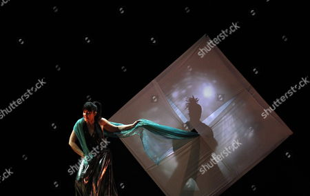 Italian Actress Daniela Giordano Performs a Scene of Her Show 'Orpheus' at the Italian Cultural Institute in Algiers Algeria 19 January 2012 the Piece was Written and Directed by Giordano Algeria Algiers
