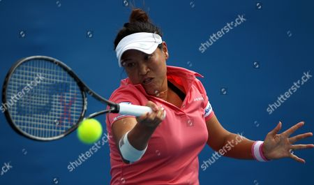 Tamarine Tanasugarn of Thailand Returns the Ball During Her Women's Singles First Round Match Against Ekaterina Makarova of Russia on the Second Day of the Australian Open Grand Slam Tennis Tournament in Melbourne Australia 17 January 2012 Australia Melbourne