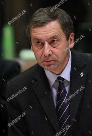 New Italian Minister For Education Francesco Profumo at the Start of a European Competitiveness Ministers Council at the Eu Headquarters in Brussels Belgium 06 December 2011 Belgium Brussels