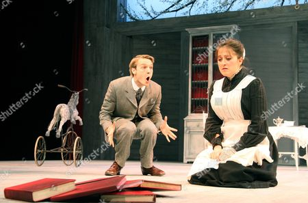 Stock Picture of Oliver Kieran-Jones (Yasha) and Natalie Cassidy (Dunyasha)