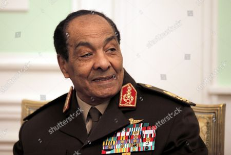 Egyptian Field Marshal Mohamed Hussein Tantawi is Seen at the Start of His Meeting with German Foreign Minister Guido Westerwelle (not Pictured) in Cairo Egypt 31 January 2012 Westerwelle is on a Four-nation Regional Tour Egypt Cairo