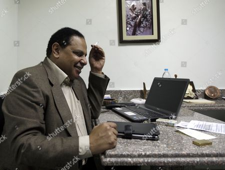 Egyptian Novelist Alaa Al-aswany During an Interview with a Journalist From Spanish News Agency Efe at His Office in Cairo Egypt 09 December 2011 According to Media Reports End November Al-aswany was Named One of the Top Global Thinkers by the Foreign Policy Magazine in Its Annual List of 100 Men and Women who Influence the World Egypt Cairo