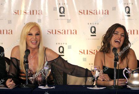 Susana Gimenez And Maju Lozano