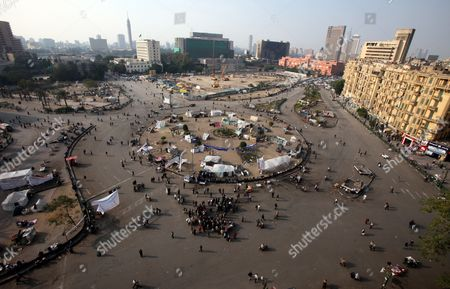 Stock Picture of Egyptian Protesters Gather in Tahrir Square Downtown Cairo Egypt 07 December 2011 Reports State That Some Political Groups Decided to Move Their Sit-in From Tahrir Square to Outside the Cabinet Building on Qasr Al-aini Street to Protest Against the New Prime Minister Kamal Ganzouri the New Cabinet is Expected to Be Sworn in on 07 December by Head of the Ruling Supreme Council of the Armed Forces Field Marshal Hussein Tantawi Egypt Cairo