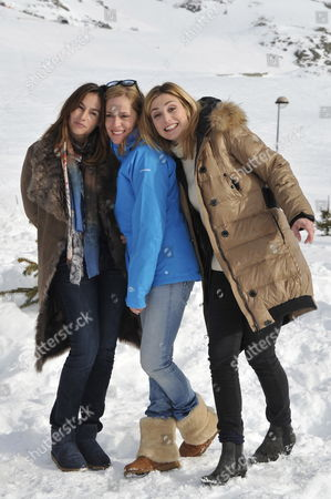 (l-r) French Actresses Vanessa Demouy Julie Bernard and Julie Gayet Pose During the Photocall For the Movie 'Nos Plus Belles Vacances' at the 15th Annual International Comedy Film Festival in L'alpe D'huez France 19 January 2012 the Festival Runs From 17 to 22 January France Alpe D'huez