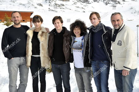 French Actors Fred Testot (l) Alma Jodorowsky (2-l) Arthur Mazet (3-l) French Director Christophe Turpin (2-r) Antoine Dulery (r) and an Unidentified Guest Pose During the Photocall For the Movie 'Sea No Sex and Sun' at the 15th Annual International Comedy Film Festival in L'alpe D'huez France 19 January 2012 the Festival Runs From 17 to 22 January France Alpe D'huez