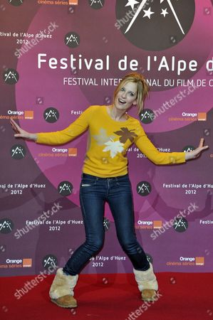 French Actress Julie Bernard Attends the Opening Ceremony of the 15th Annual International Comedy Film Festival in L'alpe D'huez France 17 January 2012 the Festival Runs From 17 to 22 January France Alpe D'huez