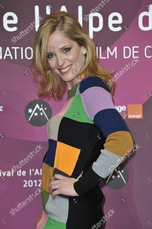French Actress Julie Bernard Poses at the Photo Call of 'Nos Plus Belles Vacances' (our Best Holiday) During the 15th Annual International Comedy Film Festival in L'alpe D'huez France 18 January 2012 the Festival Runs From 17 to 22 January France Alpe D'huez