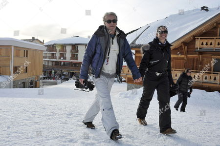 French Actor Franck Dubosc (l) and His Wife Danielle (r) Attend the 15th Annual International Comedy Film Festival in L'alpe D'huez France 19 January 2012 the Festival Runs From 17 to 22 January France Alpe D'huez
