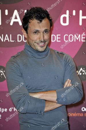 Radio Presenter Willy Rovelli Poses During the 15th Annual International Comedy Film Festival in L'alpe D'huez France 19 January 2012 the Festival Runs From 17 to 22 January France Alpe D'huez