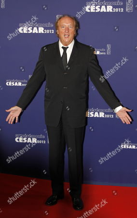 Stock Image of French Actor Bernard Farcy Arrives For the 37th Annual Cesar Awards Ceremony Held at the Chatelet Theatre in Paris France 24 February 2012 France Paris