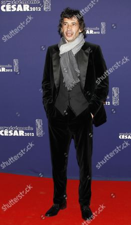 French Actor Eric Elmosnino Arrives For the 37th Annual Cesar Awards Ceremony Held at the Chatelet Theatre in Paris France 24 February 2012 France Paris
