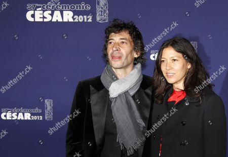 French Actor Eric Elmosnino (l) and Victoria Clay Arrive For the 37th Annual Cesar Awards Ceremony Held at the Chatelet Theatre in Paris France 24 February 2012 France Paris