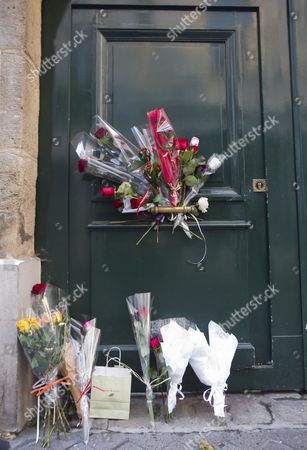 Bouquets of Flowers Are Placed on the Entrance of Danielle Mitterrand's Residence Following Announcements by French Media of Her Death in Paris France 22 November 2011 Danielle Mitterrand is the Widow of Former French President Francois Mitterrand and an Active Human Rights Campaigner She Died at the Age of 87 France Paris
