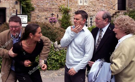 'Emmerdale'   TV Dominic Brunt, Lorraine Chase, Richard Shelton, Richard Thorp and Paula Tilbrook