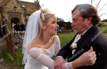 Stock Picture of 'Emmerdale'   TV    The Wedding of Emma Atkins and Kenneth Farrington