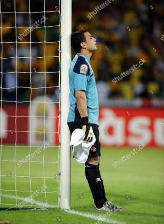 A Dejected Aymen Mathlouthi of Tunisia After His Mistake Led to Ghana Second Goal During the Africa Cup of Nations Match Between Ghana and Tunisia in Franceville Gabon 05 February 2012 Ghana Won 2-1 Gabon Franceville