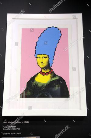 A screenprint titled 'Mona Simpson' by artist Nick Walker