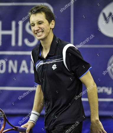 Sergiy Stakhovsky of Ukraine Reacts to a Missed Shot During His First Round Match Against Robert Kendrick of the Us in the Regions Morgan Keegan Championships in Memphis Tennessee Usa 21 February 2012 Stakhovsky Won the Match 6-3 7-7(6) United States Memphis