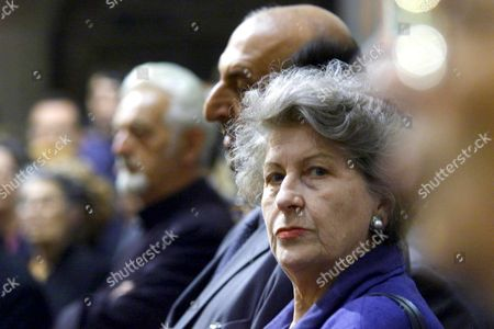 Topola-yugoslavia: Former President of the Republic of Srpska Biljana Plavsic Attends the Funeral Service of Prince Tomislav Karadjordjevic Member of Serbian Royal Family in King Petar i Karadjordjevic Memorial Monastery in Oplenac Near Topola Some 70 Km South of Belgrade on Sunday 16 July 2000 Prince Karadjordjevic the Uncle of Crown Prince Alexander who Lives in Exile in London Died of Cancer at the Age of 72 on Wednesday 12 July Epa Photo Epa/sasa Stankovic