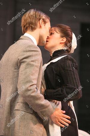 Stock Image of Natalie Cassidy as Dunyasha and Oliver Kieran-Jones as Yasha