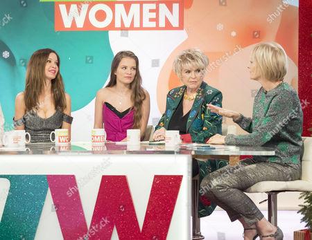 Alicia Douvall, Georgia Douvall, Gloria Hunniford and Jane Moore