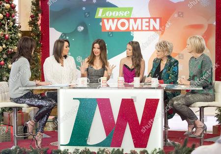 Andrea McLean, Martine McCutcheon, Alicia Douvall, Georgia Douvall, Gloria Hunniford and Jane Moore