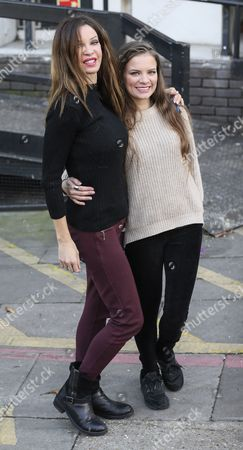 Alicia Douvall and daughter Georgia Douvall