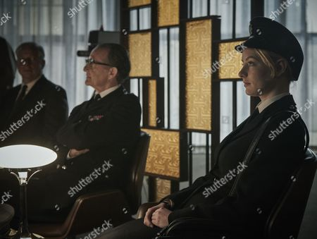 ITV ENDEAVOUR SERIES IV EPISODE 1 Pictured : Anton Lesser as Chief Supt Reginald Brigh and DKOTA BLUE RICHARDS as WPC Shirley Trewlove.